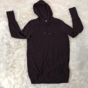 Akini Hooded Long Sleeve Waffle Sweater Dress